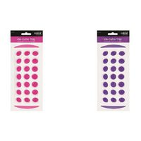 Set Of 2 Coloured Ice Cube Trays - Pink & Purple
