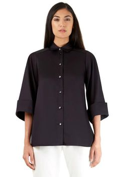 Closet London - Black Wide Sleeved Shirt