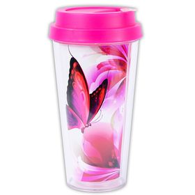 d890e87927b Lumoss - Coffee Sip Cup with Colour Insert - Butterfly