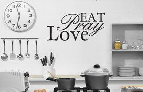 Fantastick Wall Decor - Eat-pray-love - Black