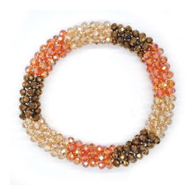 Lily & Rose Tri Tone Faceted Bead Stretch Bangle - TLBR022