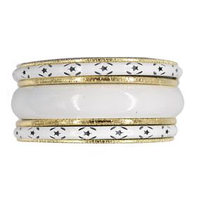 Lily & Rose Gold & White Plated Multi Bangle Set - TLBR044