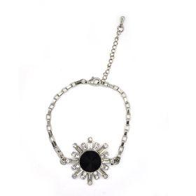 Lily & Rose Rectangular Box Chain In Gun Metal Colour With Multi Shaped Diamante & Black Decorative Star Burst Designed Top - TLBR073