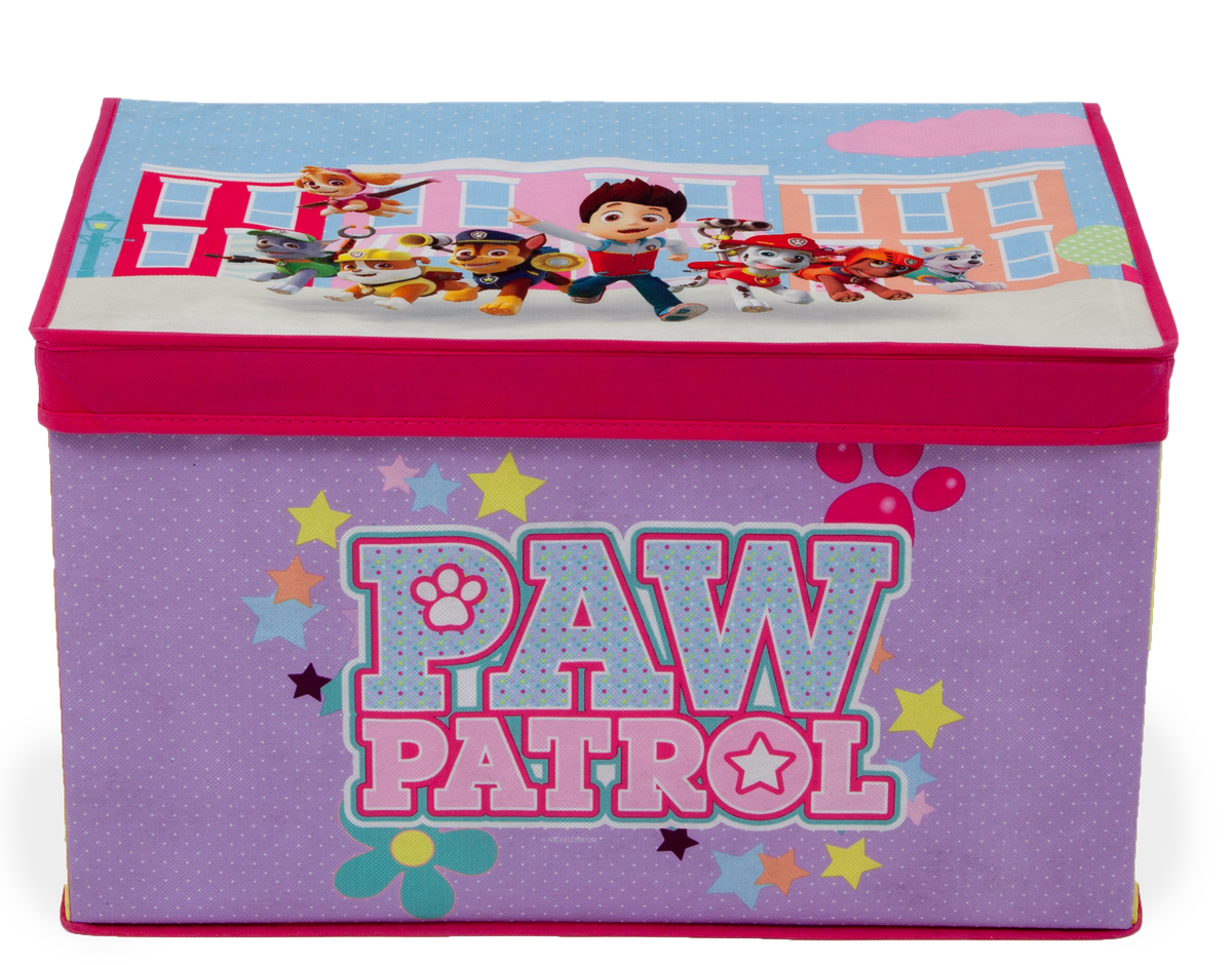 Carnival Toy Box Pink: Delta Paw Patrol Collapsable Fabric Toy Box - Pink