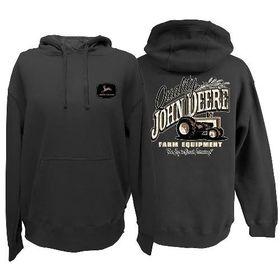 "John Deere Mens Fleece Hoody ""The Key To Great Farming"" - Charcoal"