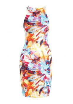 Closet London - Hawaiian Print Racer Dress