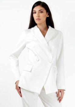 Closet London - Ivory Lapel Two Button Jacket