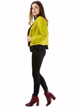 Closet London - Lime Zip Pocket Wool Cropped Jacket