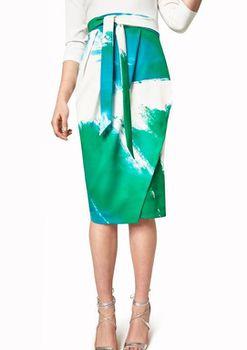 Closet London - Long Sleeve Pencil Dress With Printed Skirt