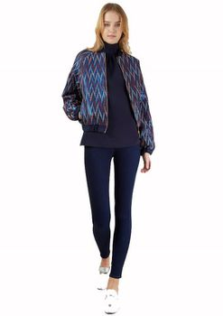 Closet London - Metallic Zigzag Printed Bomber Jacket