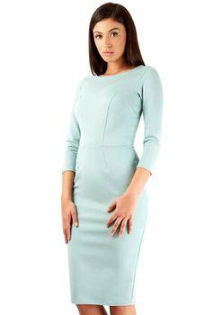 Closet London - Mint 3/4 Sleeve Ponte Bodycon Dress
