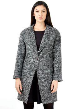 Closet London - Monochrome Structured Wool Coat