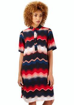 Closet London - Navy Collar Button Up Shirt Dress