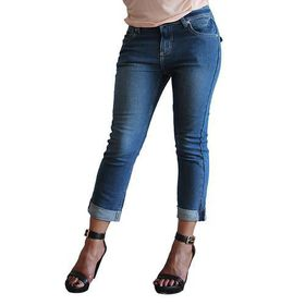 Ladies Cuffed Capri Jeans