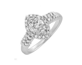 Diamond Engagement Ring in 14ct White Gold - 0.50ctw