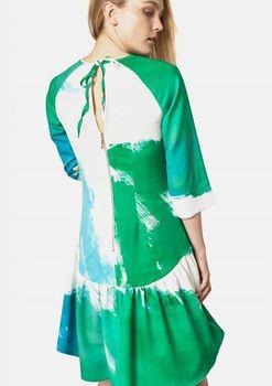 Closet London - Printed Drop Waist Gathered Hem Dress