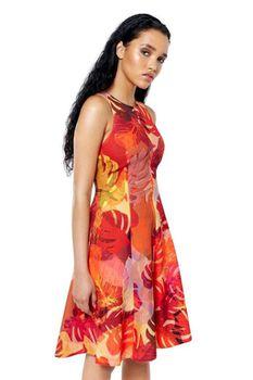 Closet London - Red Floral A Line Dress