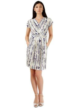 Closet London - Tribal Print Tulip Wrap Dress