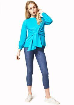 Closet London - Turquoise Tie Front Blouse
