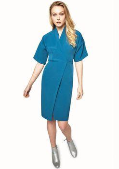 Closet London - Wrap Over Kimono Sleeve Dress