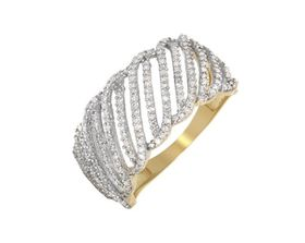 Miss Jewels 0.50ctw Natural Diamond Wedding Band In 10K Yellow Gold (Size: N 1/2)