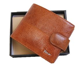 Fino top grain  genuine leather Wallet In Gift Box Sk-Bd1601