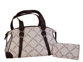 Fino Pu Leather Tote Fashion Bag & Pu Leather Purse Sk90025+F8-865