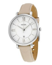 d21650b6a37 Fossil Women s Jacqueline Stainless Steel Watch With Leather Band Es3793  (Parallel Import)