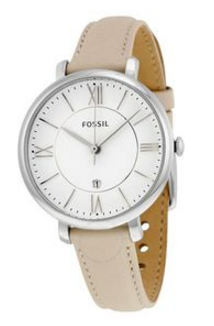 Fossil Women's Jacqueline Stainless Steel Watch With Leather Band Es3793 (Parallel Import)