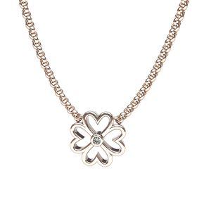 Clover Diamond Pendant - Rose Gold