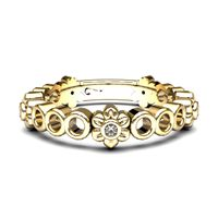 Beautiful Bloom Stax - Yellow Gold (Ring Size: M)