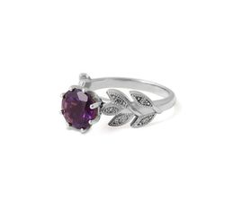 Why Alluring Amethyst And Diamond Ring - Silver
