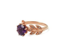 Why Alluring Amethyst And Diamond Ring - Rose Gold Plated
