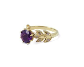 Why Alluring Amethyst And Diamond Ring - Yellow Gold Plated