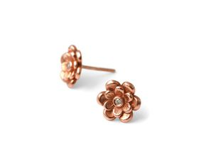 Dazzling Double Floral Earrings - Rose Gold