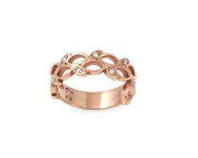 Why Lavish Leaf Diamond Ring - Rose Gold Plated
