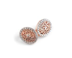 Floral Fantasy Diamond Earrings - Rose Gold