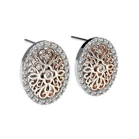 Floral Fantasy Diamond Earrings - Rose Gold