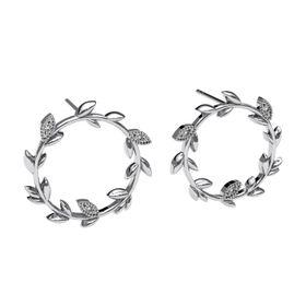 Beautiful Branch Diamond Earrings - Silver