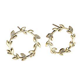 Beautiful Branch Diamond Earrings - Yellow Gold
