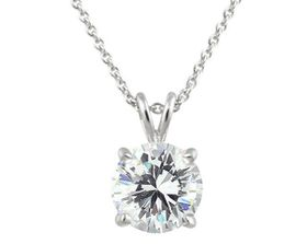 Cubic Zirconia Pendant with Necklace in 925 Sterling Silver