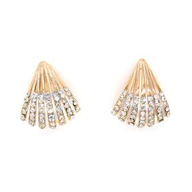Lily&Rose Rose Gold Plated Traingle Fan Style Earring