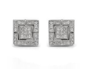 Square Cluster CZ Style Studs