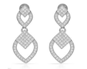 Cubic Zirconia Encrusted Chandelier Earrings