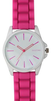 Digitime Ladies Cyber Analogue Watch - Pink