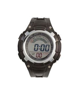 Digitime Men's LCD Sports Watch - Black/Silver