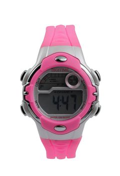 Digitime Ladies LCD Sleek Watch - Pink