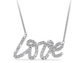 Destiny Love Necklace with Swarovski Crystals - Silver