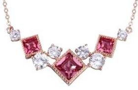 CDE Celeste Necklace with Swarovski Crystals - Rose Gold