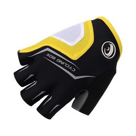 Cycling Box Mens Minoans Gloves Yellow and Black